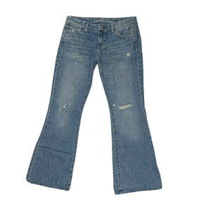 American Eagle Jeans Size 10 Real Flare Distressed